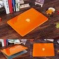 Nueva caliente crystal clear hard case para apple macbook air pro retina 11 12 13 15 Bolsa de ordenador portátil Shell Para Mac book 13.3 pulgadas Cortado LOGO