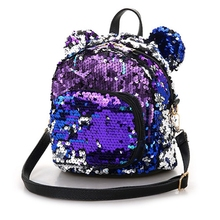 High Quality Fashion Colorful Women Girls Sequins Mini Backpack School Satchel Travel Shoulder Bag Rucksack 2019 New brand new girls boys high quality pu leather school bag travel backpack satchel women shoulder rucksack large capacity ulrica