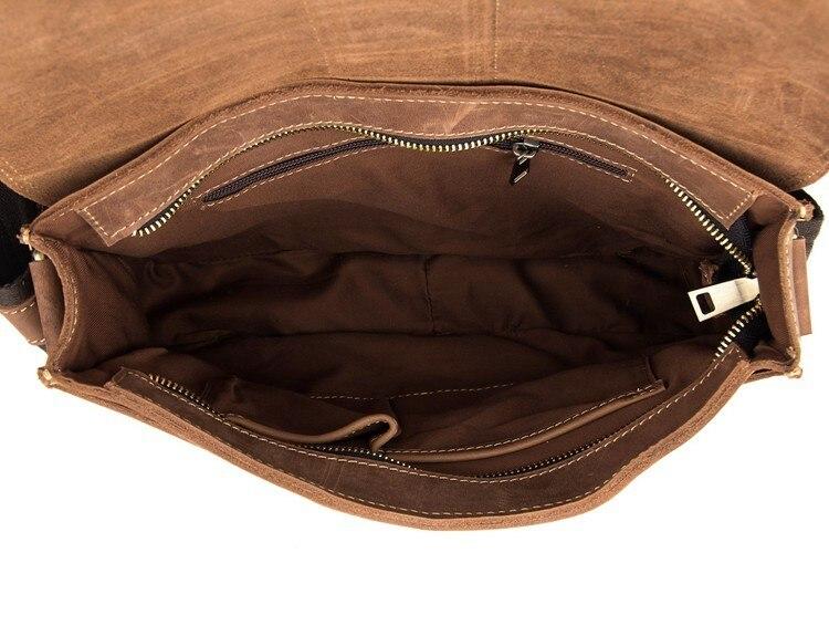 Cuir Nesitu Qualité Sac Brun M7263 Épais Vintage Haute Mâle En Hommes Véritable Épaule De Fou Messenger Sacs Cheval CFwqfH