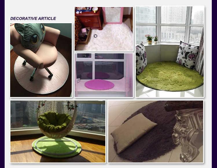 ソフトシャギー床リビングルームベッドルームラグエリアの家の装飾豪華なフロアマットのためのコンピュータ椅子フロア座り