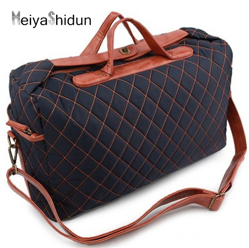 Meiyashidun Men Travel Bags Large Capacity Women Luggage Travel Duffle Bags Nylon Business Handbag Waterproof Bags Bolso Deporte