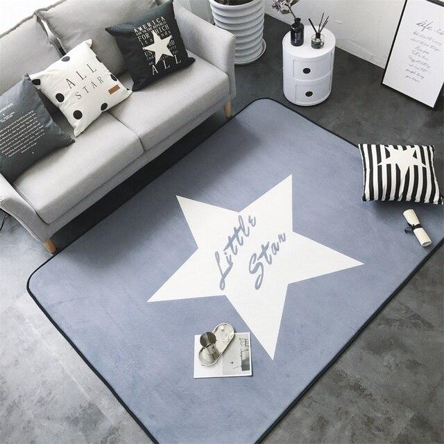 Mode Big Star Gris Salon Chambre Décoratif Tapis Tapis Sol Salle De ...