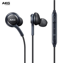 AKG In-Ear Earphones for Galaxy S8/S8+ Volume Control with Mic Hands-free Headphone 3.5mm Wired In-line Earphones Stereo Earbuds ggmm cuckoo three key control dynamic stereo in ear earphones wine red