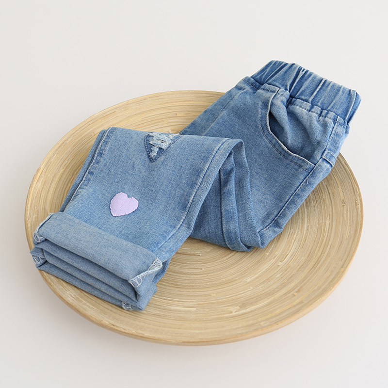9f206121361 Bear Leader Boys Girls Jeans 2018 Spring Jeans Trousers Heart Hole  Embroidery Kids Pants Children Clothing Pantalon Fillette -in Jeans from  Mother & Kids on ...