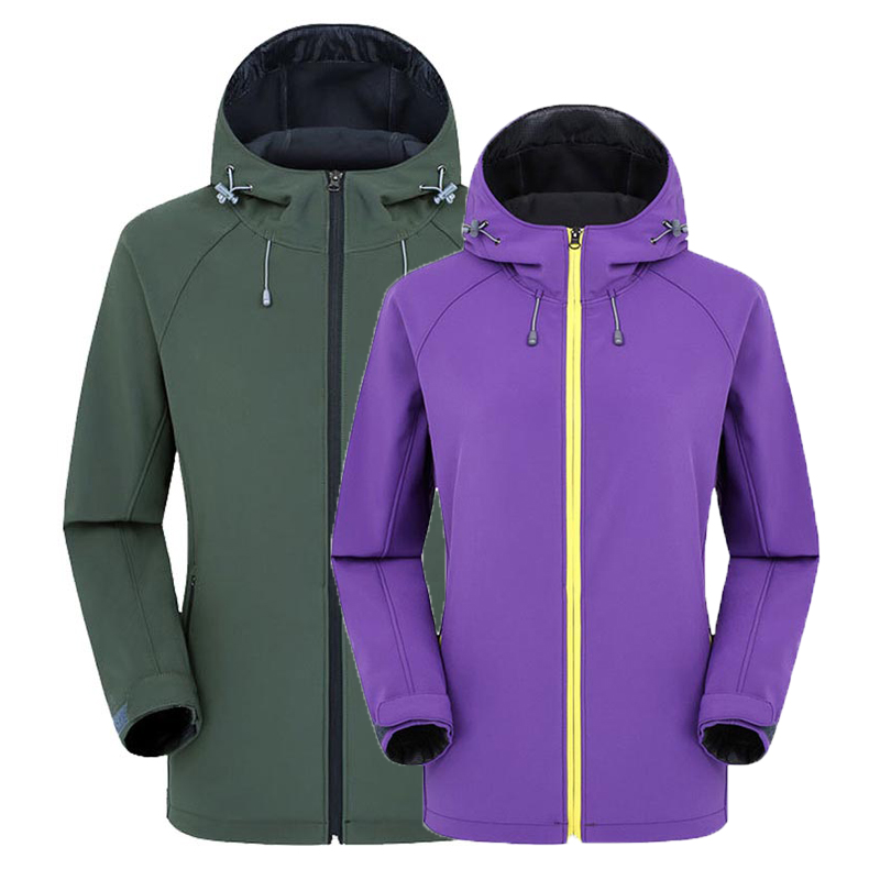 Outdoor Fleece Men's Women's Jacket Soft shell Breathable Hooded Jacket Waterproof Windproof Mountaineering Camping Jacket