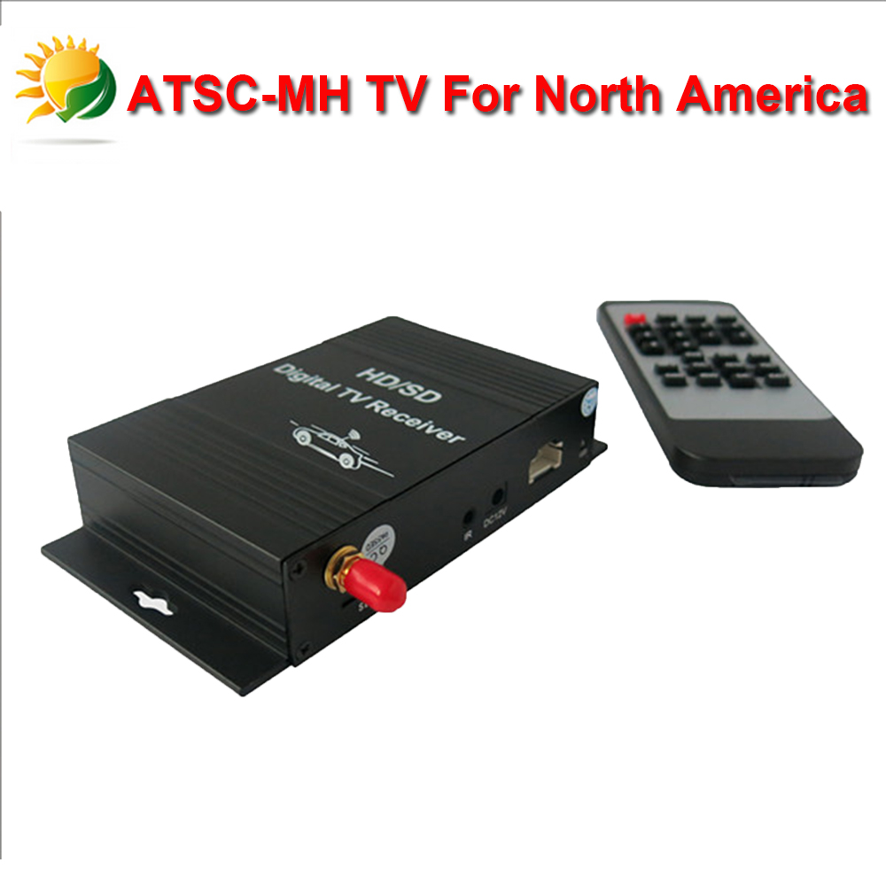 2015 Hotting USA HD Car Digital TV Box Android ATSC TV Tuner Receiver for Car DVD Player Unite States Digital TV Free Shipping image