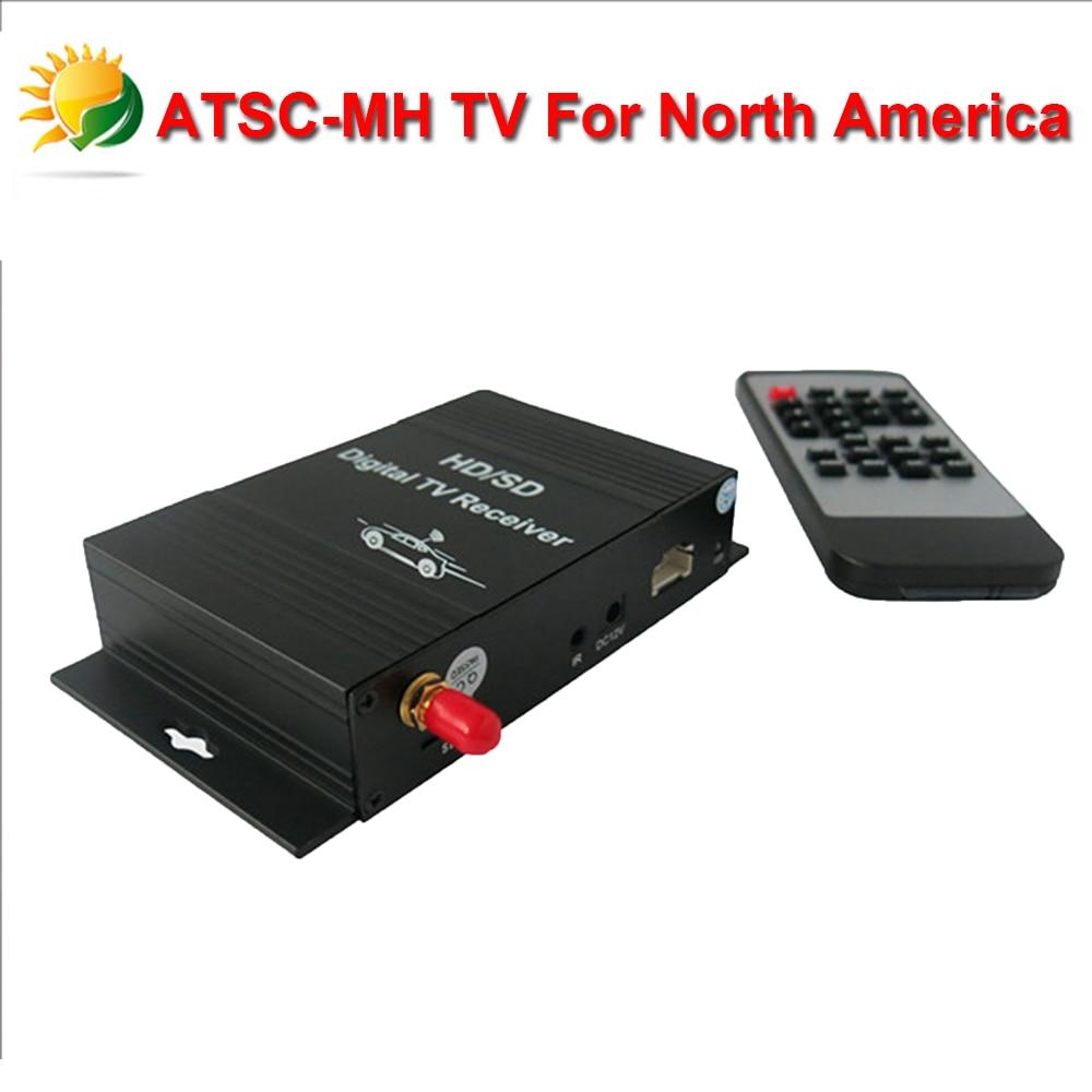 2015 Hotting USA HD Car Digital TV Box Android ATSC TV Tuner Receiver for Car DVD Player Unite States Digital TV Free Shipping dvb t isdb digital tv box for our car dvd player