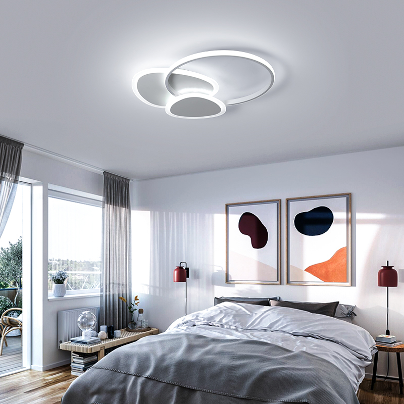 Remote control White/Brown Modern led Ceiling Lights metal Ceiling Lamp Dining room Foyer Bed room lamparas de techo led lampRemote control White/Brown Modern led Ceiling Lights metal Ceiling Lamp Dining room Foyer Bed room lamparas de techo led lamp