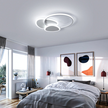 цены Remote control White/Brown Modern led Ceiling Lights metal Ceiling Lamp Dining room Foyer Bed room lamparas de techo led lamp