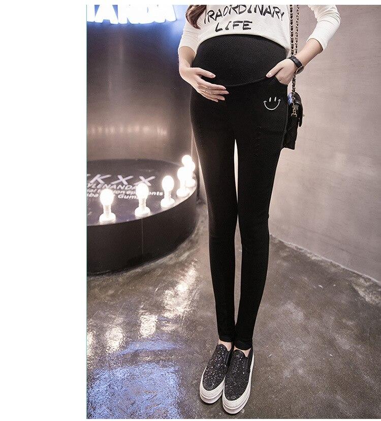 af96baf605 Plus Size Elastic Waist 100% Cotton Maternity Jeans Pants For ...