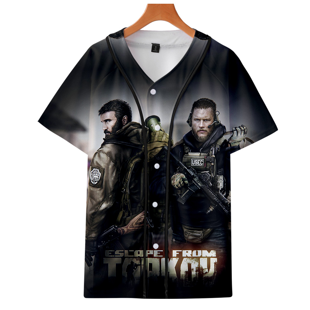 Escape From Tarkov Game Baseball T-shirts Men Harajuku Fashion Summer Short Sleeve 3d Printing Tshirt Streetwear Clothing 1
