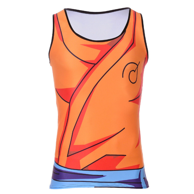 Bodybuilding Fitness Men T Shirt Goku Dragon Ball Vest Tank Top