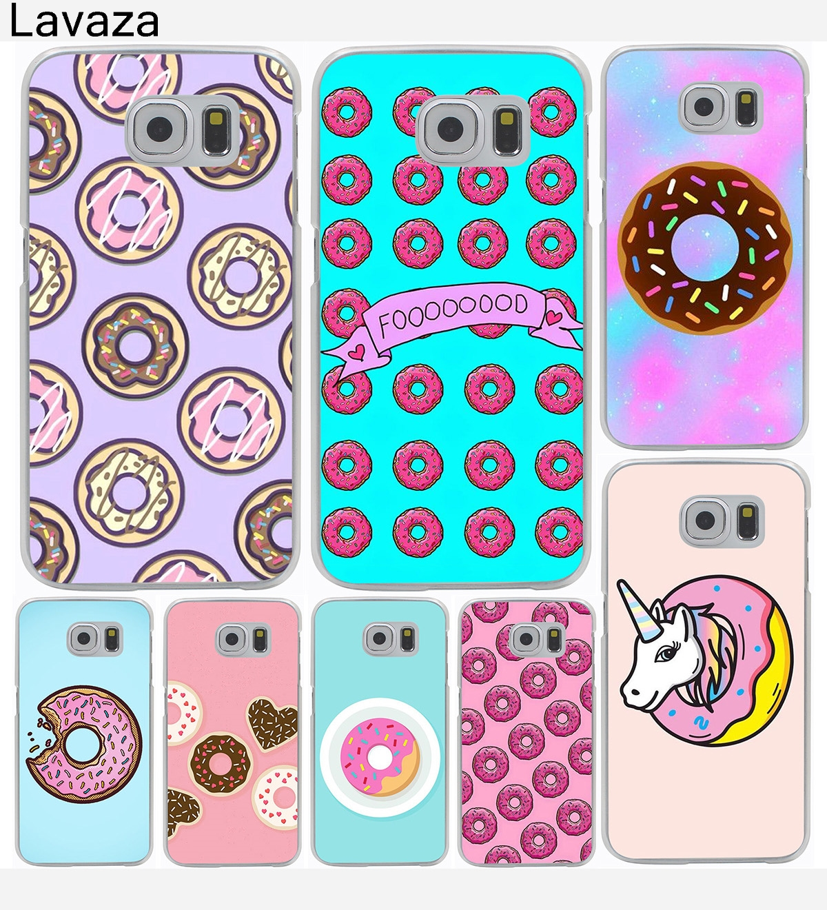 Banana Fries Donuts Hard Cover Case for Galaxy S3 S4 S5 & Mini S6 S7 S8 Edge Plus