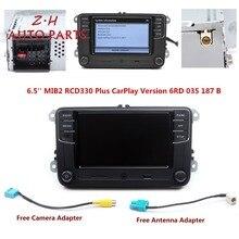 NEW 6.5'' MIB RCD330 Plus CarPlay Radio Player 6RD 035 187 B For VW Golf Jetta Passat B6 Eos Polo 1GB RAM Support Bluetooth USB цена в Москве и Питере