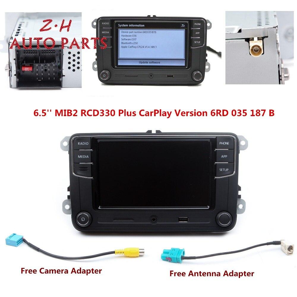 Nouveau lecteur Radio 6.5 ''MIB RCD330 Plus CarPlay 6RD 035 187 B pour VW Golf Jetta Passat B6 Eos Polo 1 GB RAM Support Bluetooth USB