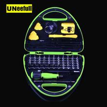UNeefull 67 w 1 zestaw magnetycznych wkrętaków precyzyjnych z zestawem narzędzi do naprawy Torx Security do laptopów telefonów konsole do gry tanie tanio Przypadku UN-8934 Wkrętaki Połączenie Zestaw narzędzi gospodarstwa domowego 55mm Elektryczne l Torx Bit