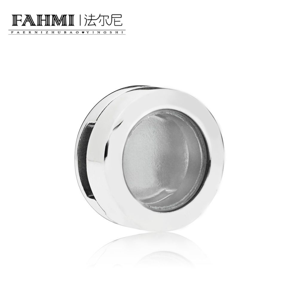 FAHMI 100% 925 Sterling Silver 1:1 797755 Reflexions Locket Clip Charm Vintage Boutique Jewelry Anniversary GiftFAHMI 100% 925 Sterling Silver 1:1 797755 Reflexions Locket Clip Charm Vintage Boutique Jewelry Anniversary Gift