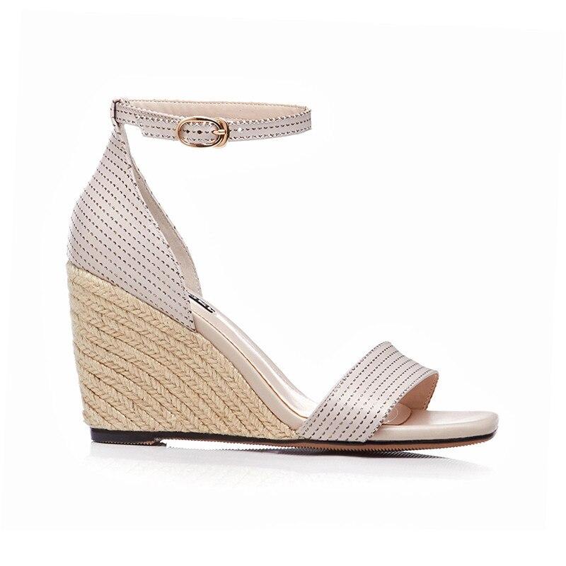 femmes à pointu Chaussures bout véritable cuir compensées en pour 5w6ttXfq