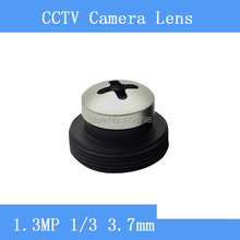 HD surveillance infrared camera 1.3MP silver screw-shaped pinhole lens 3.7mm M12 thread CCTV lenses