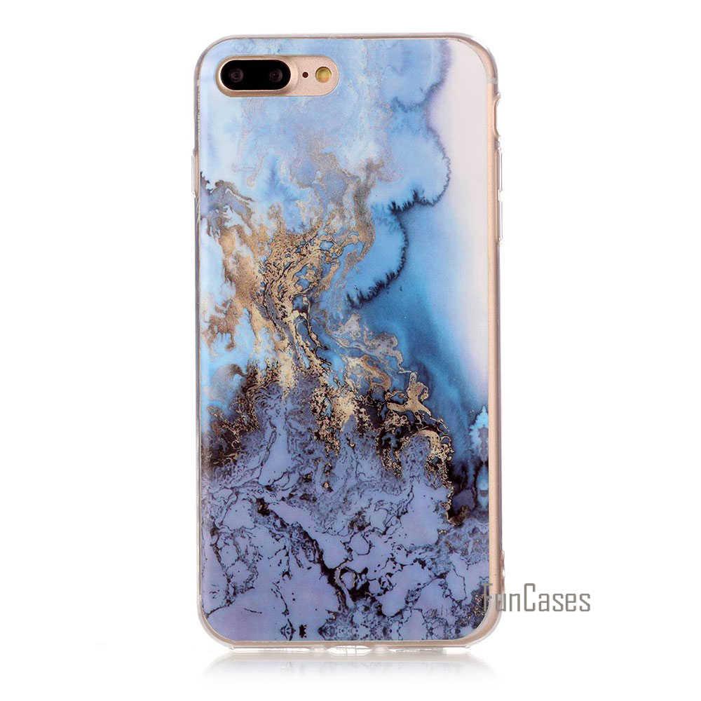 Funda suave de TPU para iphone 4 5 5s 5C 6 6 S Plus nueva llegada granito Scrub mármol piedra imagen pintada fundas de teléfono para iphone 7 7 plus