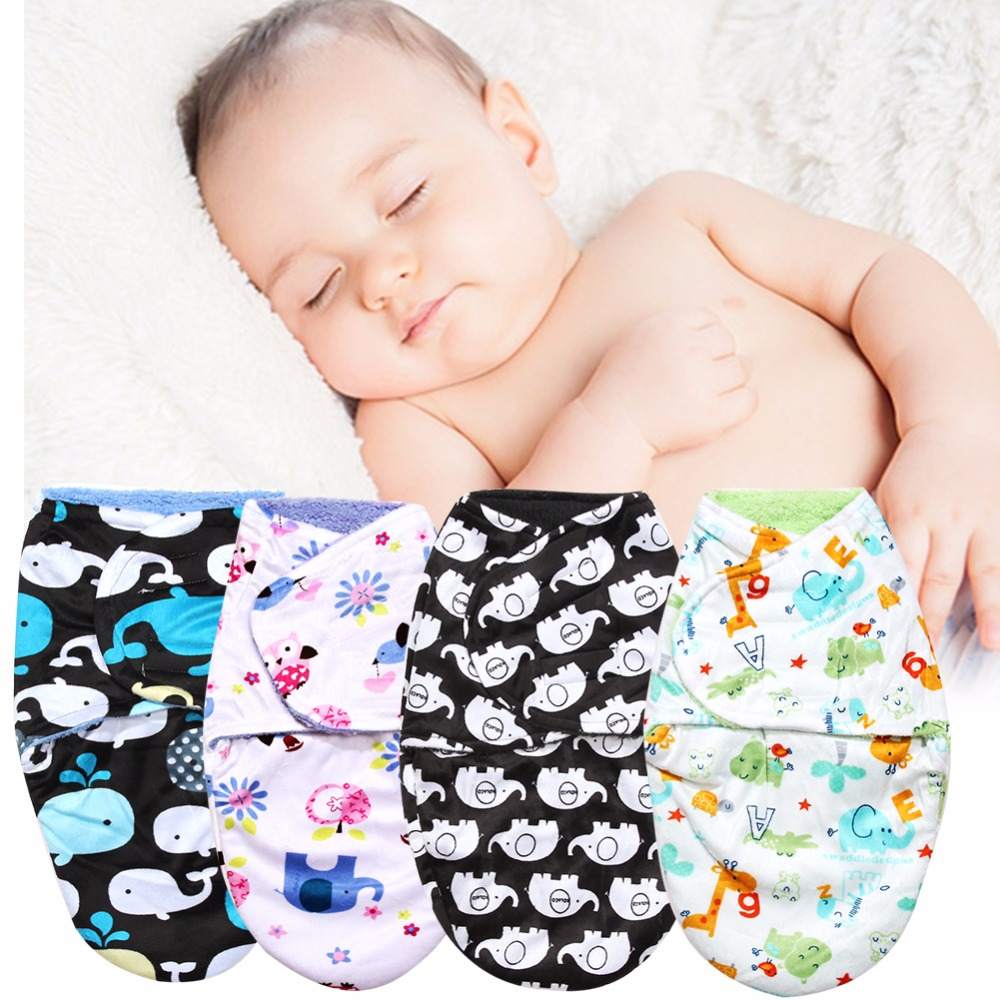 Double Layer Sleeping Bag Baby Short Plush Swaddling Clothes Newborn Sleep Sacks Warm Clothes Girl Boys