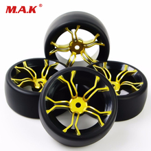 Фото - hobby collections model car wheels and tires tyre toys fit for 1/10 scale RC on-road drift racing car model accessory 4pcs/set 4pcs 1 64 modified wheels rubber tires with axles and end cap upgrade parts for rc model car