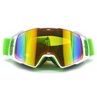 Verde scuro striscia nera Occhiali Da Moto Occhiali Motocross googles Country Flessibile Goggles Colorato UV motocross occhiali