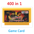 Hot Sale 8 bit game card 400 in 1 no repeated games Contra game cartridge Player with 400 Games Free Shipping