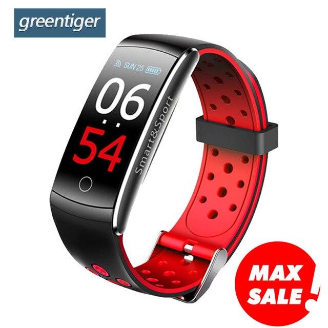 Greentiger Q8S Smart Band Heart Rate Monitor Waterproof Smart Bracelet Fitness Tracker Blood Pressure Smart Watch VS mi band 3