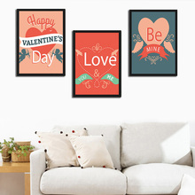 Love Heart Quote Wedding Canvas Print Poster Valentines Theme Bedroom Wall Picture Living Room Wings Painting Home Decor