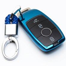 Miękkie TPU pokrywa kluczyki przypadku powłoki torba ochronne klucz pierścień dla Mercedes Benz 2017 E klasa W213 2018 S klasa akcesoria samochodowe