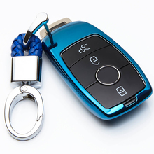 Soft TPU Car Key Cover Case Shell Bag Protective Key Ring For Mercedes Benz 2017 E Class W213 2018 S class Accessories