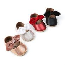 Обувь из искусственной кожи для маленьких девочек 0-18 месяцев; мокасины; обувь с бантом и бахромой; нескользящая обувь с мягкой подошвой; обувь для малышей