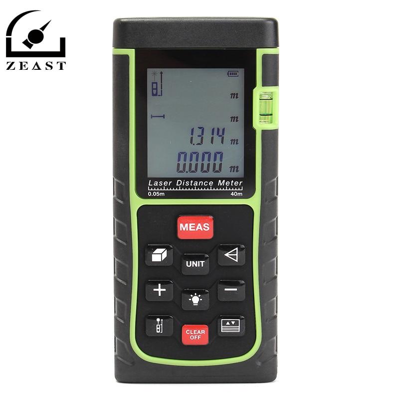 ФОТО 40M  Handheld Digital Laser Point Distance Meter Measure Tape Range Finder Durable Quality Black And Green