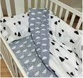 New Arrival Hot Ins Crib Bed 100% Cotton 3pcs Baby Bedding Set Include Pillow Case+Bed Sheet+Duvet Cover Without Filling