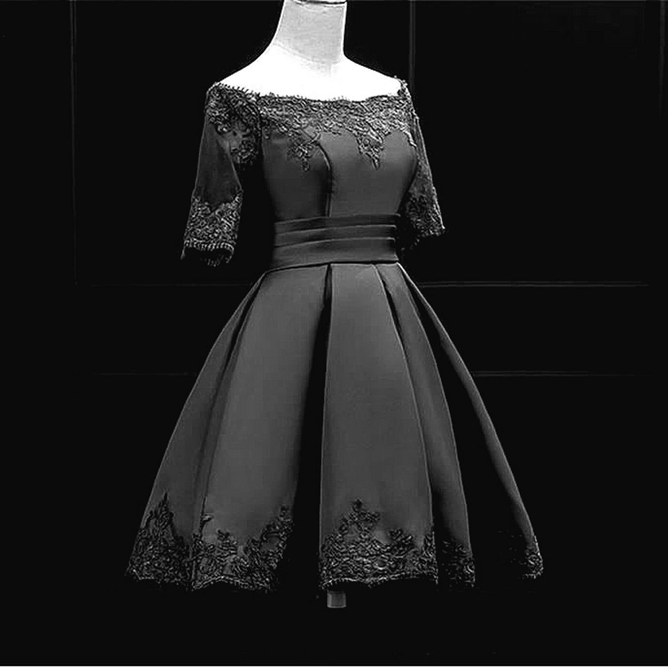 Fashion Pink Prom Dresses Short 2018 New Sexy Prom Dress Boat-Neck Satin Appliques Lace-Up Beach Built-In Bra Party Gowns 10