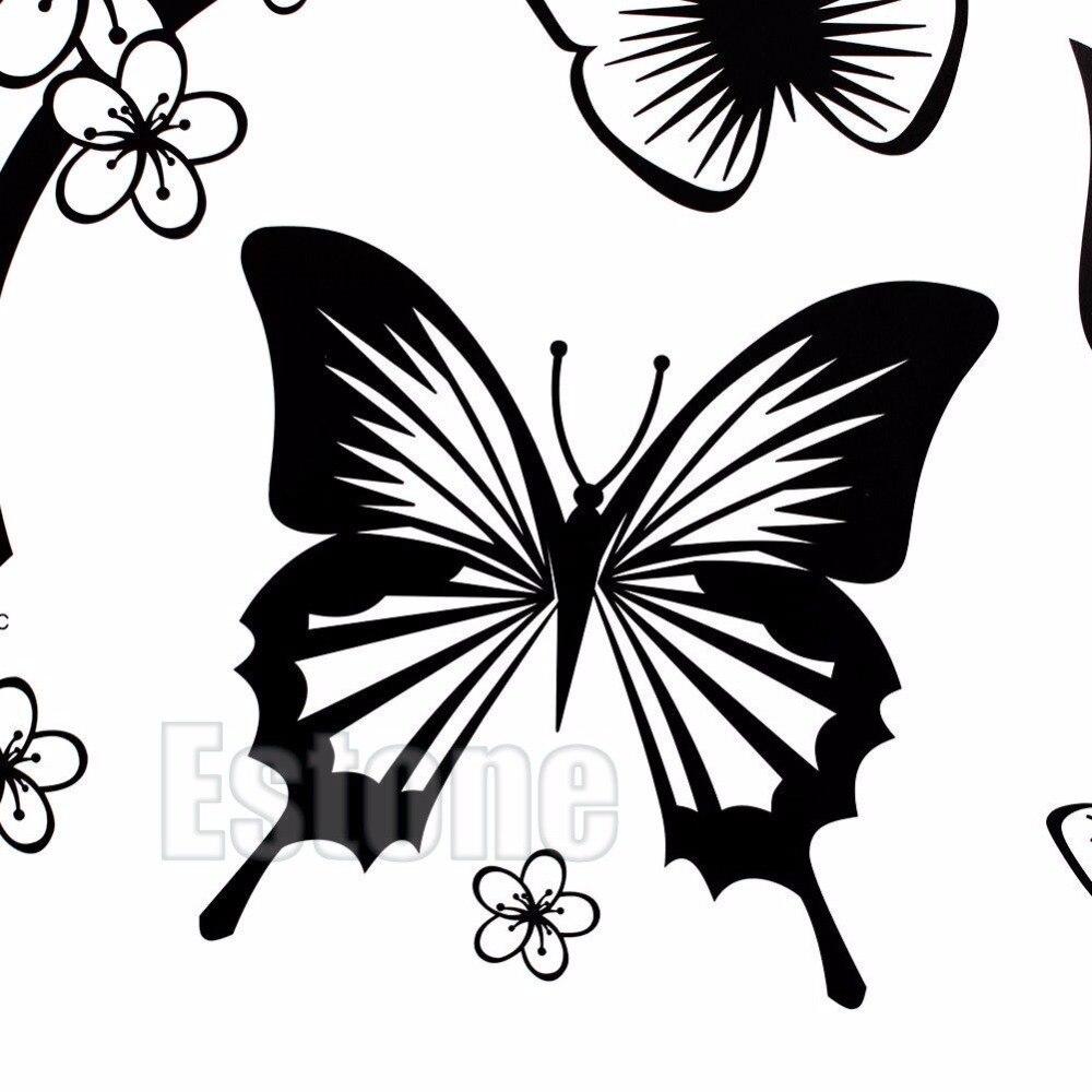 Aliexpresscom  Buy  Set Butterfly Flower Wall Art Decal Vinyl - Butterfly vinyl decals
