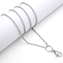 10PCS 80cm Stainless Steel Silver/Gold/Rose Gold/Black/Rainbow/Chocolate Chain For Floating Locket 32 Inch