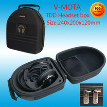 V-MOTA TDD Headphone Carry case boxs For DENON AH-D7100 AH-D600 AH-D320RDEM AH-D400 AH-D320BUEM headphone(headset suitcase)