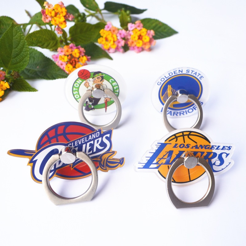 NBA Teams Universal Stent Accessories Mobile Phone Holder Stand Finger Ring Magnetic For Cute Cell Smart Phone Holder