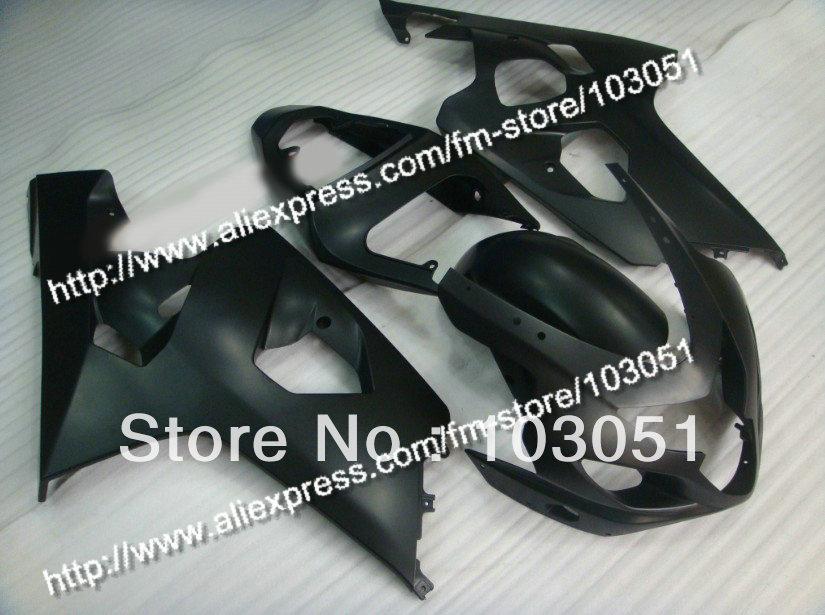 bodywork for SUZUKI 2004 GSXR 750 fairing K4 2005 GSXR 600 fairings 04 05 all flat black DB91 bodywork fairing set e for suzuki gsxr600 750 k4 2004 2005 black painted abs new [ck114]