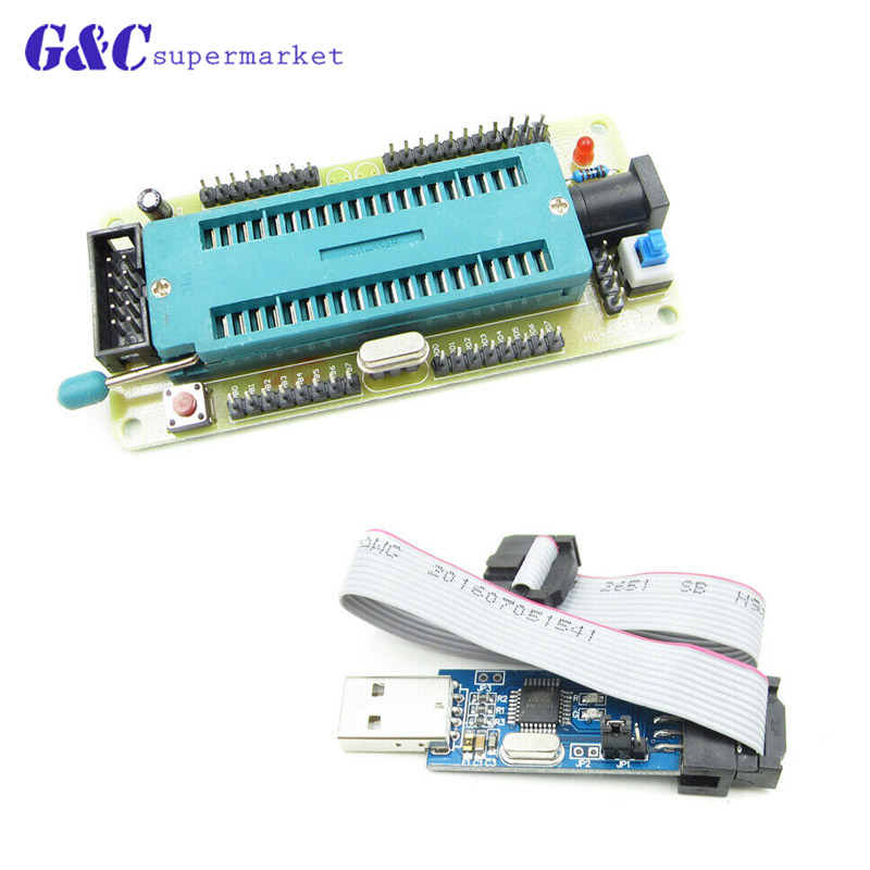 AVR ATMEGA16 Minimum System Board ATmega32 Development Board + USB ISP USBasp Programmer For ATMELAVR ATMEGA16 Minimum System Board ATmega32 Development Board + USB ISP USBasp Programmer For ATMEL
