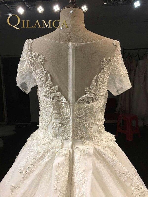 a2feca23c27 Real Photo Ball Gown Pulmakleit 2018 pruutkleidid kohandatud suuruse ...