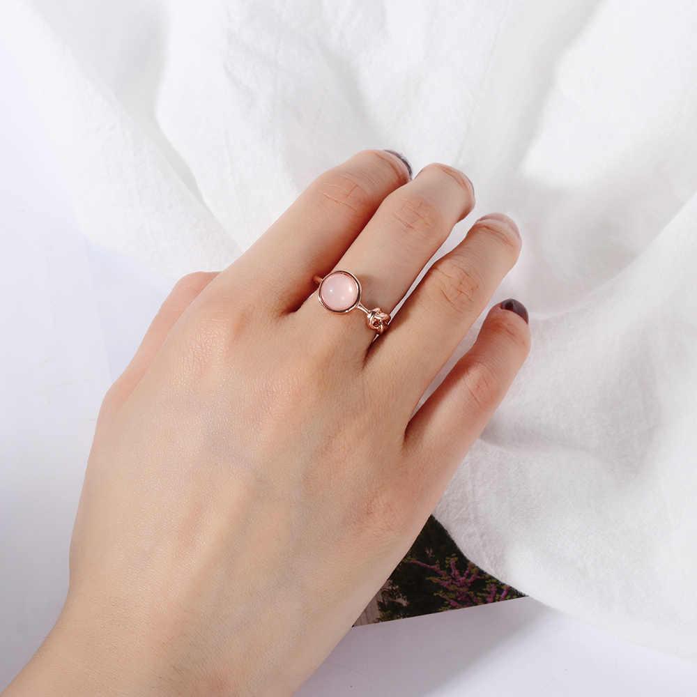 1 шт. шикарное женское серебряное розовое Опаловое обручальное кольцо со стразами Размер 6 7 8 9 10 прозрачные ювелирные изделия из лунного камня