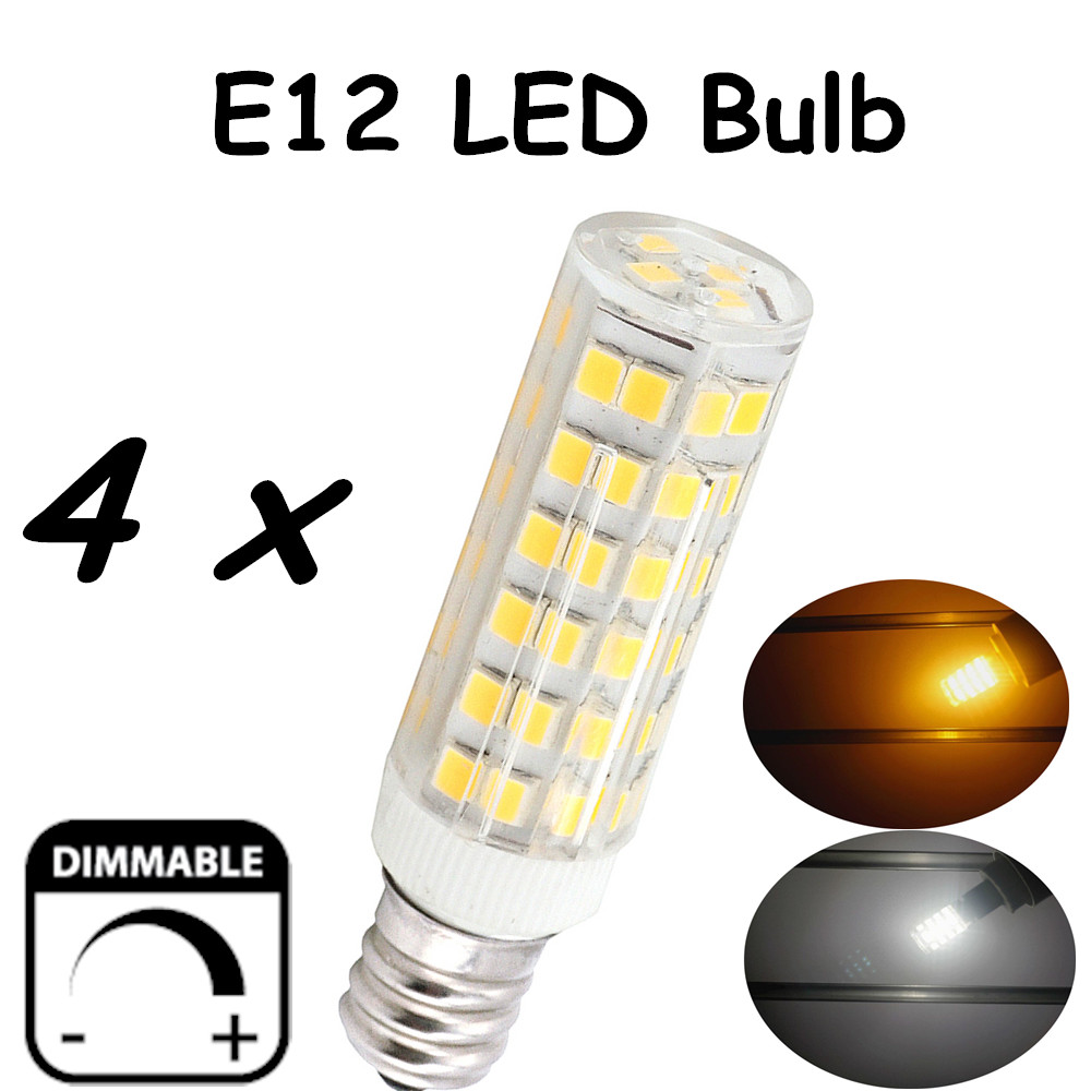Dimmable 6W LED E12 T3 Medium Screw Candle Base Light Bulb-50W E12 Halogen Lamp Replacement for E12 Lamp Base Fixtures Lighting 15w br40 led light bulb not dimmable e27 e26 screw base wide beam angle 120 degrees 100w halogen bulb equivalent
