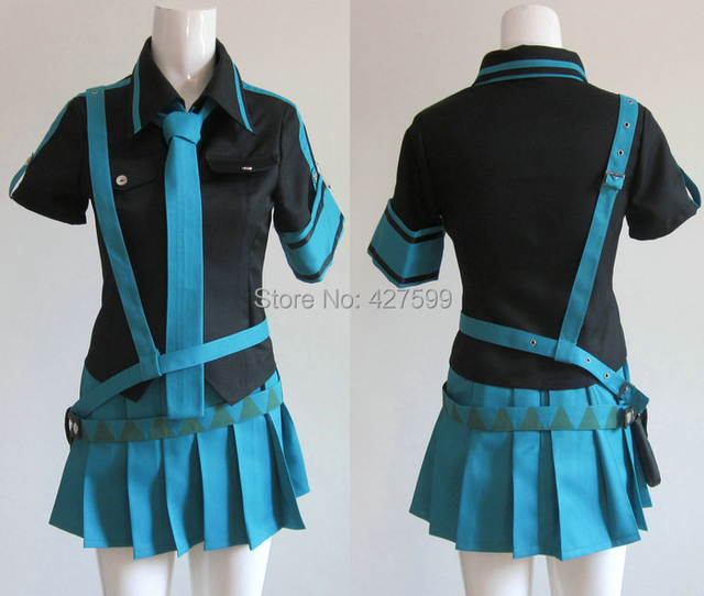 vocaloid 2 love is war hatsune miku blue cosplay costume halloween costumes