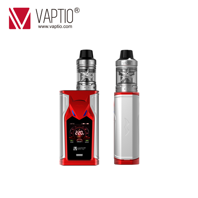 220W Vape Kit VAPTIO SUPER BAT KIT With 1.3inch Screen Electronic Cigarette Box MOD 2.0/5.0ml Atomizer 510 Thread Vape Mod