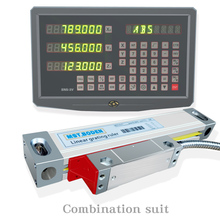 Fräsmaschine drehmaschine linear schneiden maschine digital display DRO linear optische herrscher gitter herrscher spezielle paket