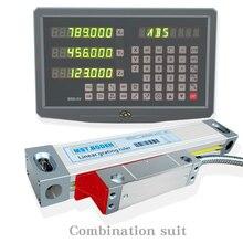 Máquina de corte linear máquina de fresagem exibição digital dro, régua óptica linear, pacote especial