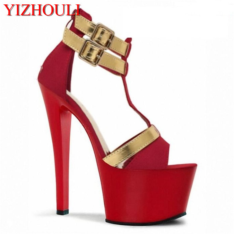 Hollow out instep with package with 17 cm super high heels sandals fine with waterproof factory direct sale